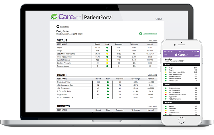 Personal Health Assessment Patient Portal and Mobile App